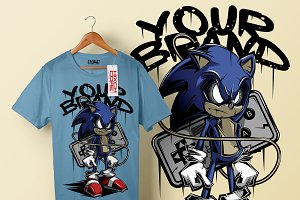 sonic t-shirt design artwork