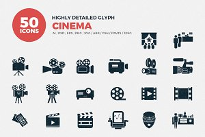 Glyph Icons Cinema Set
