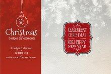 Christmas Badges. Set #3