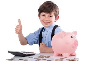 Child satisfied with savings