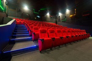 Modern cinema auditorium