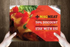 Meatti Post Card Template Design