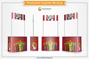Promotion Counter Mockup