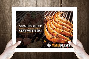 Grillelo Post Card Template Design