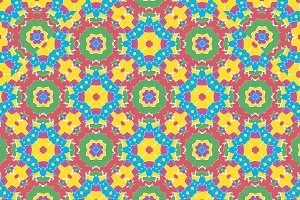 Geometric Multicolored Seamless Pattern