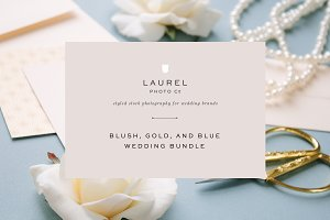 Blush, Gold, and Blue Wedding Bundle