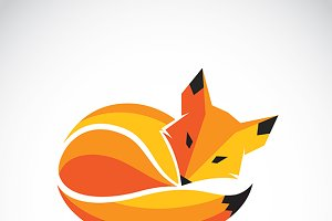 Vector of a fox design. Wild Animals