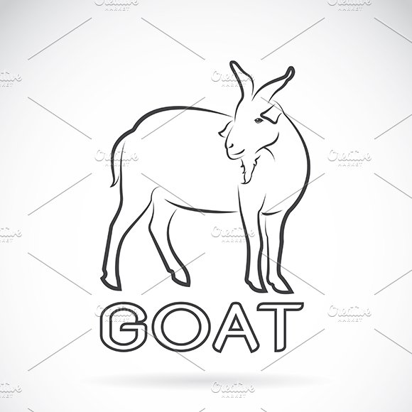 Vector Of A Goat Wild Animals