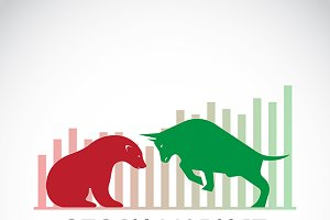 Vector of bull and bear.