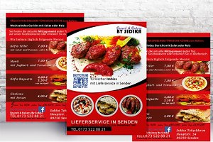 Flyer Restaurant Imbiss Hamburger