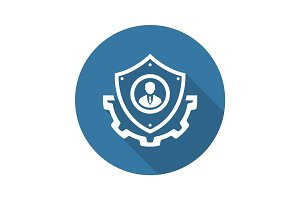 Security Services Icon. Flat Design.