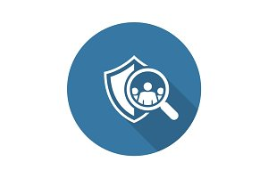Safety Checking Icon. Flat Design.