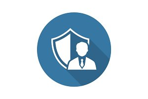 Security Agency Icon. Flat Design.