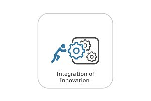 Integration of Innovation Icon. Flat Design.