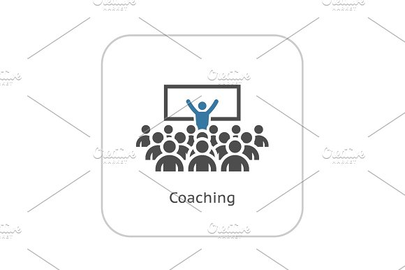 Coaching Icon Business Concept