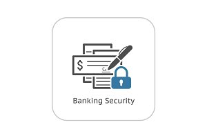 Banking Security Icon. Flat Design.