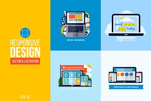 Responsive web design illustrations