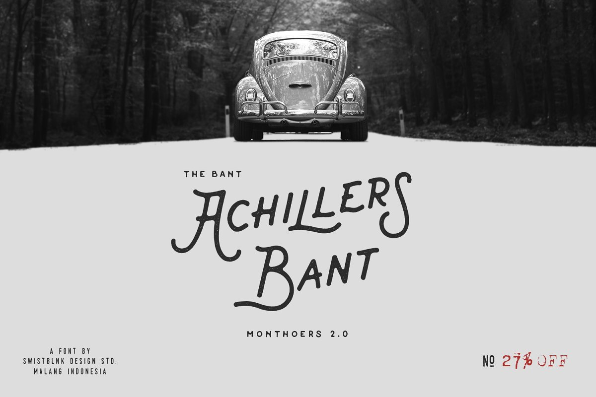 Bant Achillers Typeface ~ Display Fonts ~ Creative Market