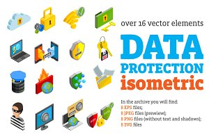 Data Protection Isometric Set