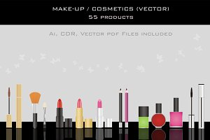 Make up / cosmetic products (Vector)
