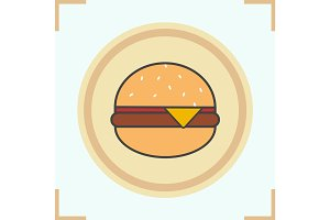 Hamburger color icon