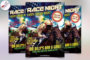 Horse Race Night Flyer Template