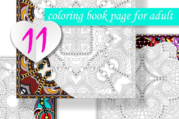 11 Coloring Book Page for Adult