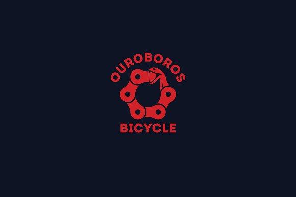 Ouroboros Bicycle Logo Template