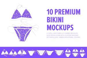 10 Premium Bikini Mockups