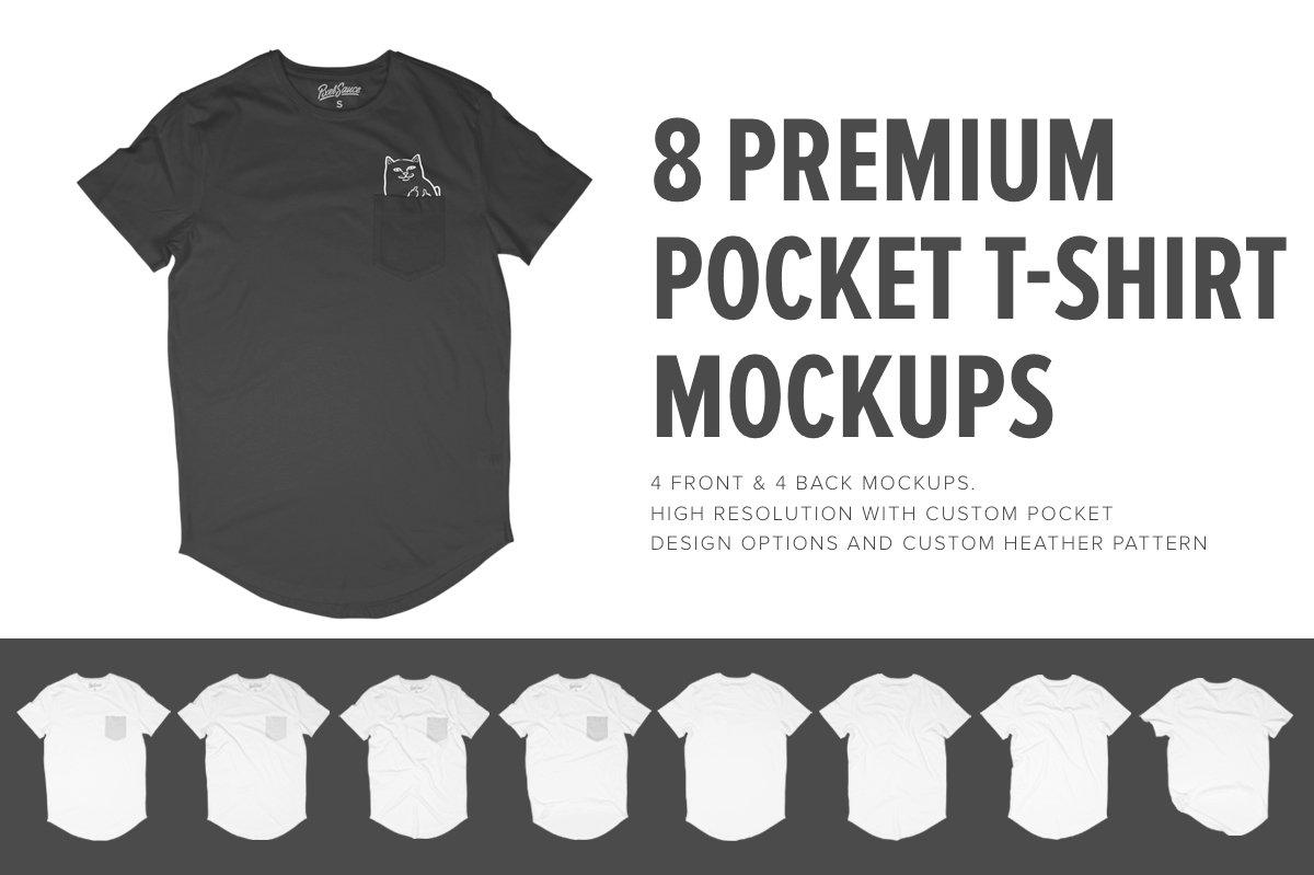 8 Premium Pocket T Shirt Mockups Product Creative Market Circuit Board Tshirt Computer Geek Tee Mens