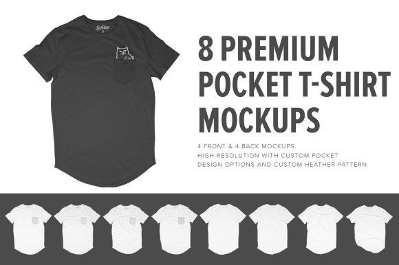 8 Premium Pocket T Shirt Mockups