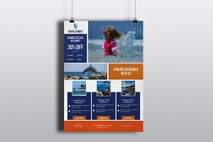 Travel Agency Flyer Template-V539