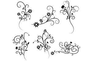 Flower Flourish Swirl Clipart