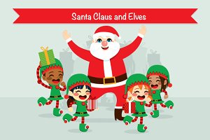 Santa Claus And Elves