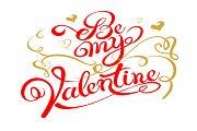 Be My Valentine text