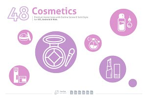Cosmetics Premium Vector Icons