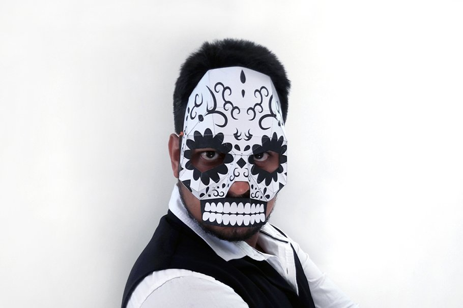 DIY Sugar Skull Mask -3d papercrafts ~ Templates ~ Creative