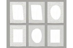 Set of creative journaling cards template for japanese style Wab