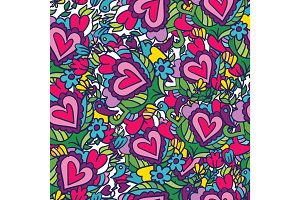 Creative holidays seamless pattern for Valentine's Day. Greetin