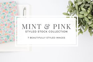 Mint & Pink Styled Stock Photos