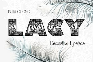 Lacy Font and extras
