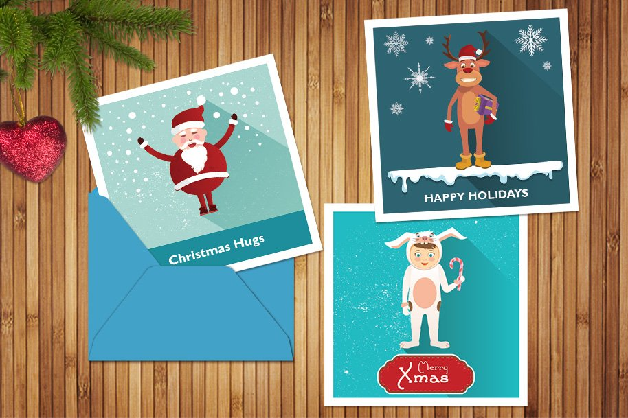 Christmas greeting cards illustrations creative market m4hsunfo