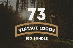 BIG BUNDLE 73 Vintage Logos Badges