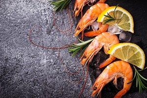 Prawns shrimps