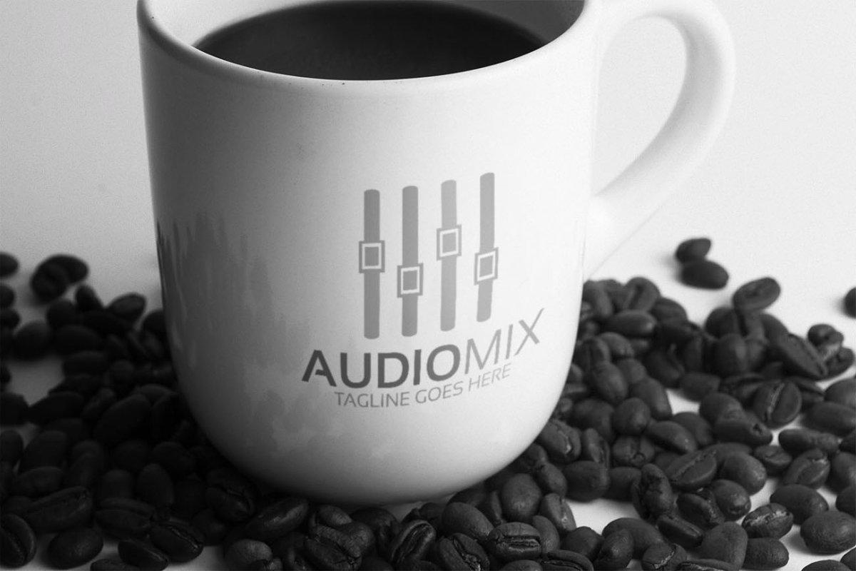 Audio Mix Logo in Logo Templates