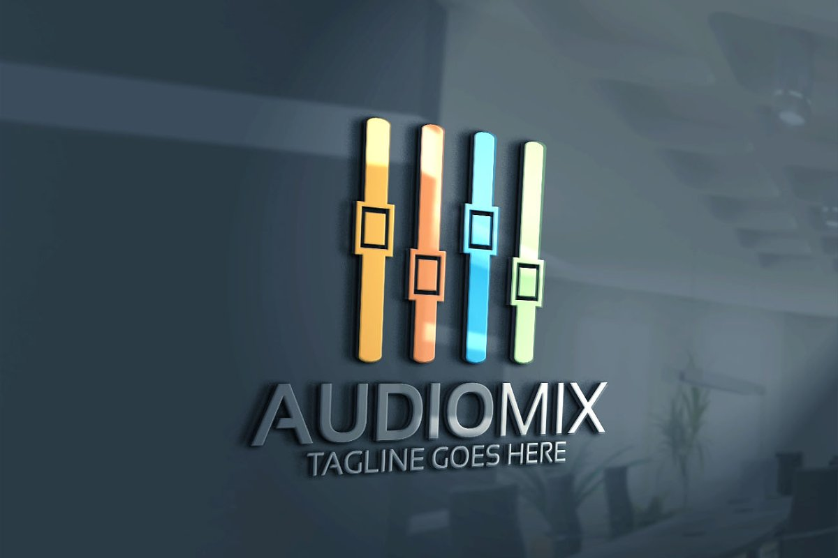 Audio Mix Logo in Logo Templates - product preview 1