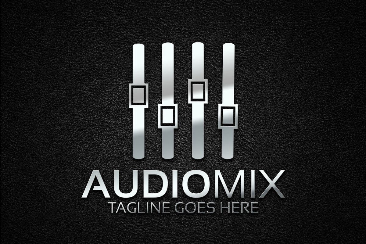 Audio Mix Logo in Logo Templates - product preview 3