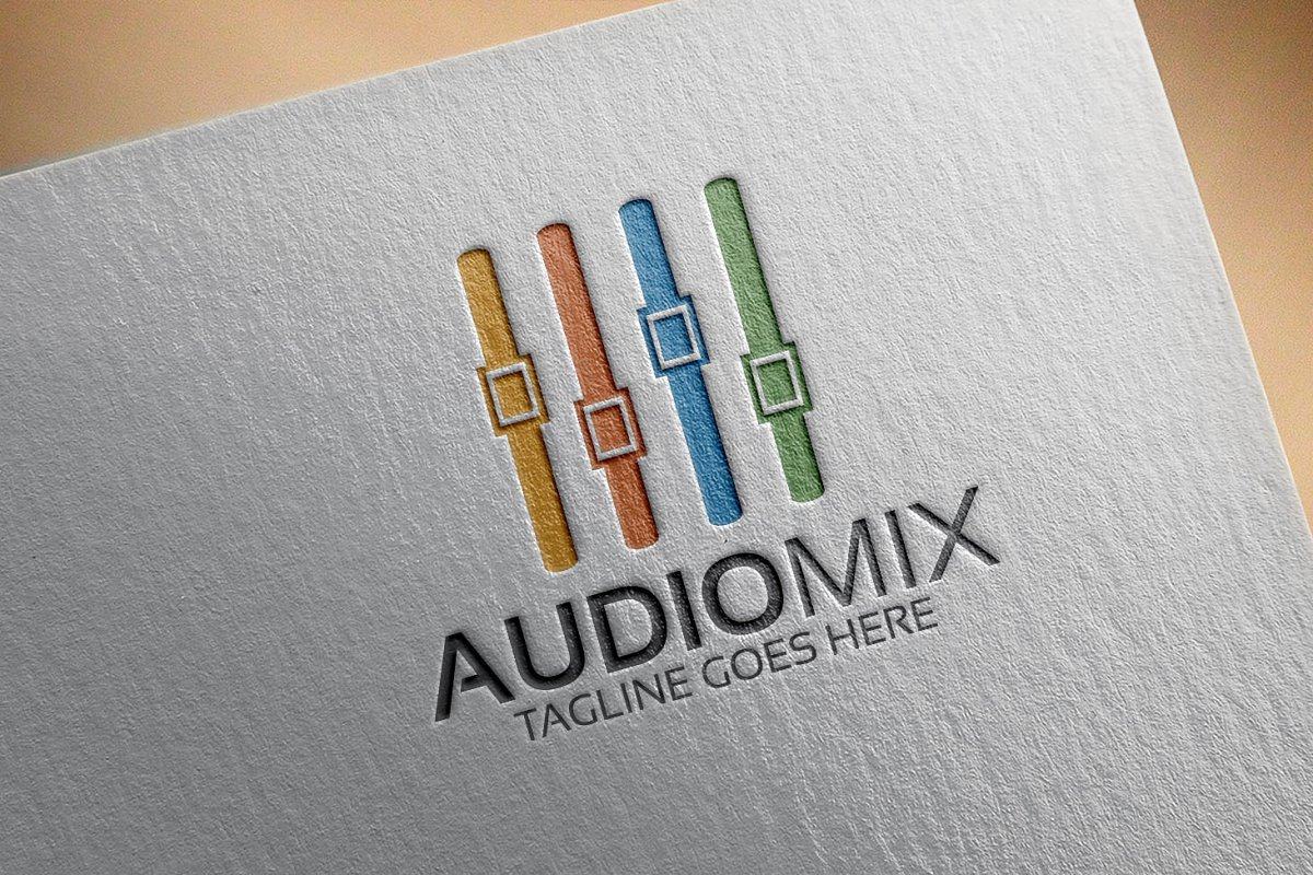 Audio Mix Logo in Logo Templates - product preview 4