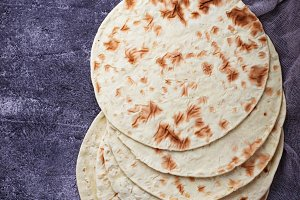 Mexican corn tortillas