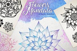 Vector Flowers MANDALA